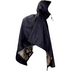 JR Gear Poncho Lite, Svart - Large