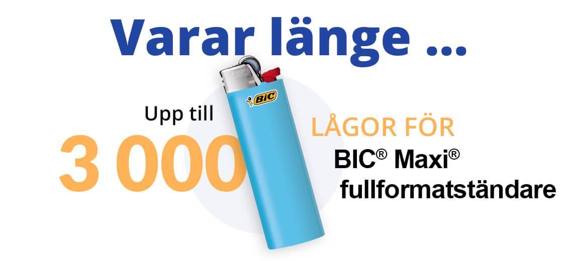 Bic 3000 tändningar